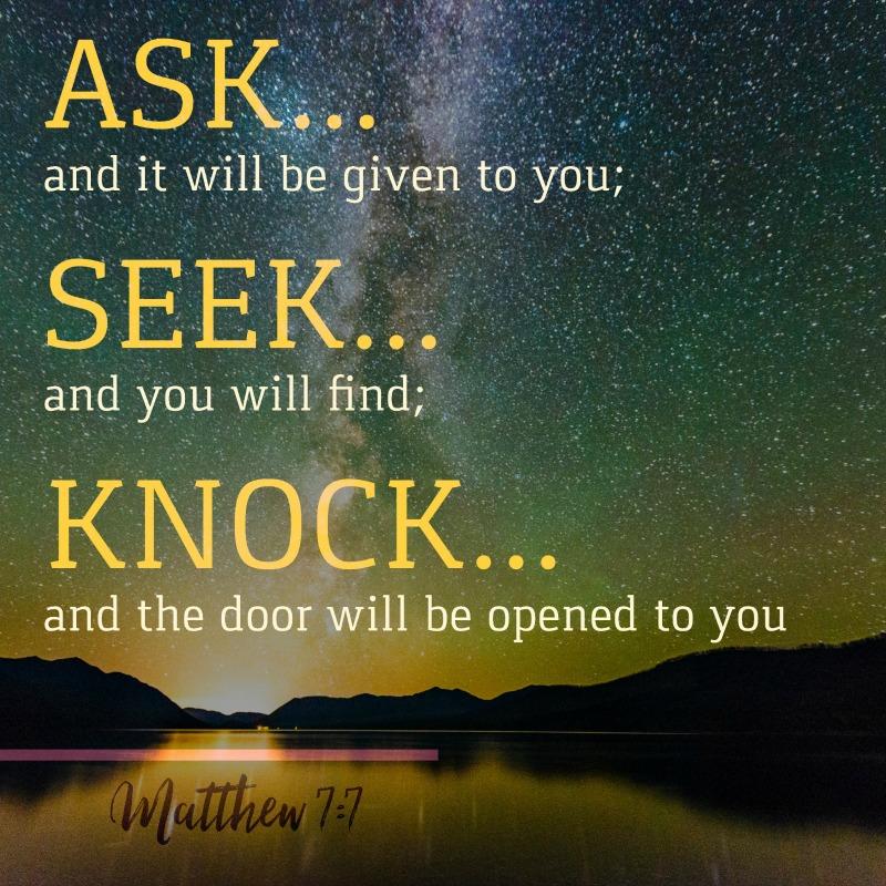 Daily Verse: Matthew 7:7