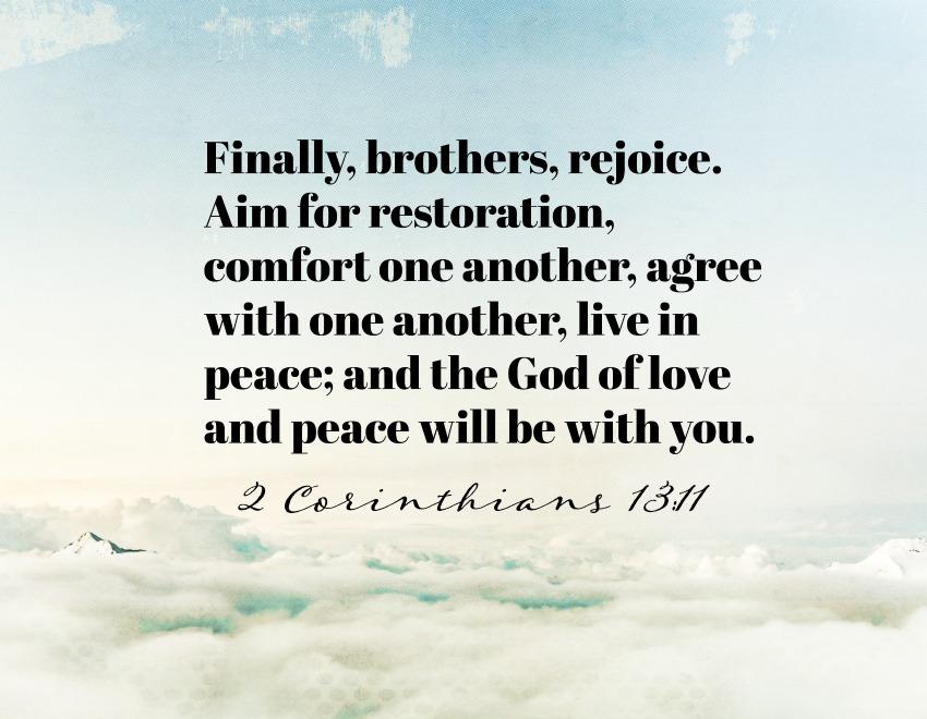 Daily Verse: 2 Corinthians 13:11