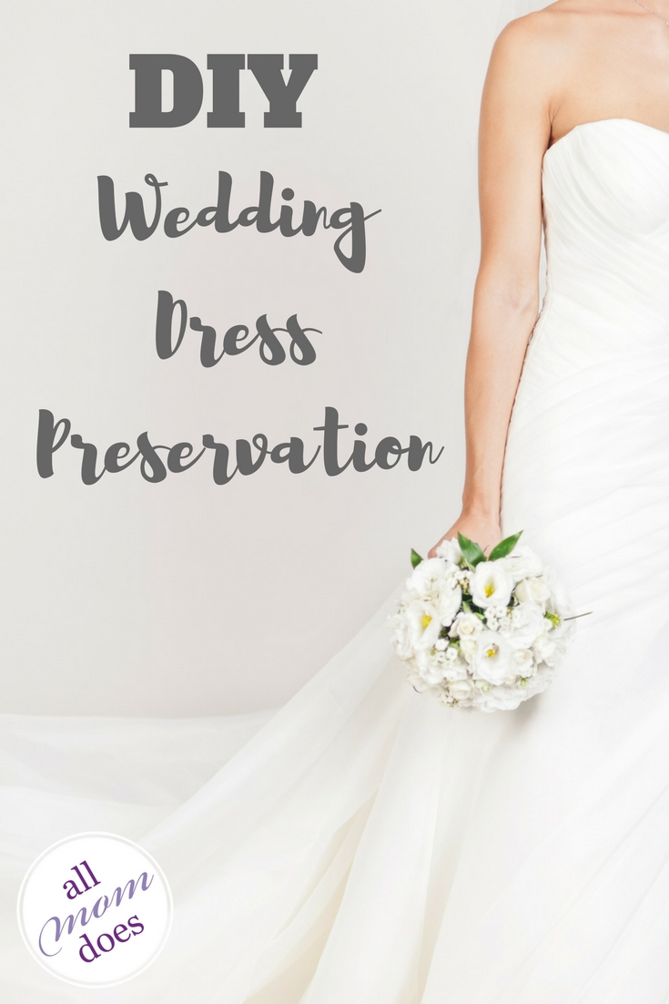 Preserve your own wedding dress with these DIY wedding dress preservation instructions. #diy #weddingdress #preservation