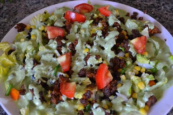 Southwestern Taco Salad with Cilantro-Lime Dressing