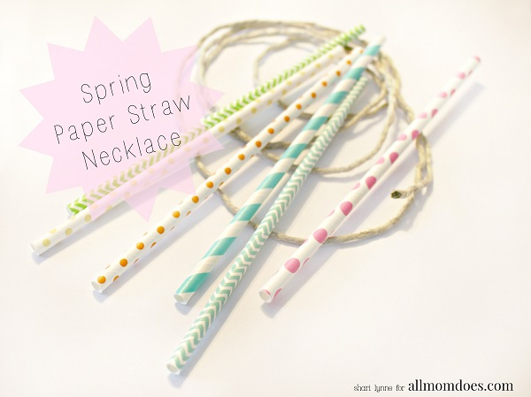 Spring Paper Straw Necklaces