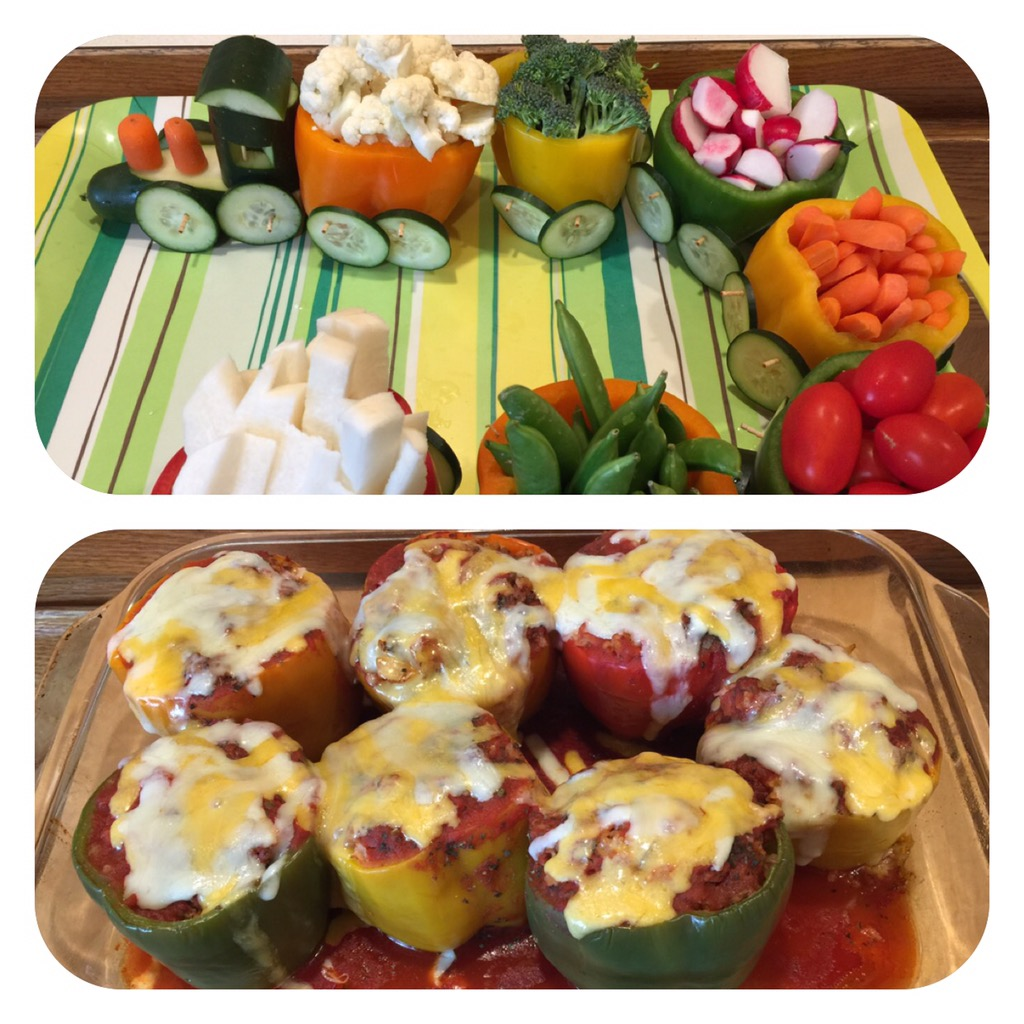 Veggie Party Train (and Stuffed Pepper Recipe!)