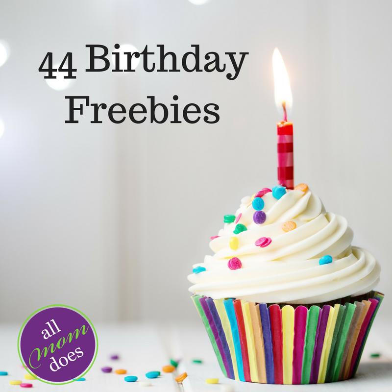 44 Birthday Freebies