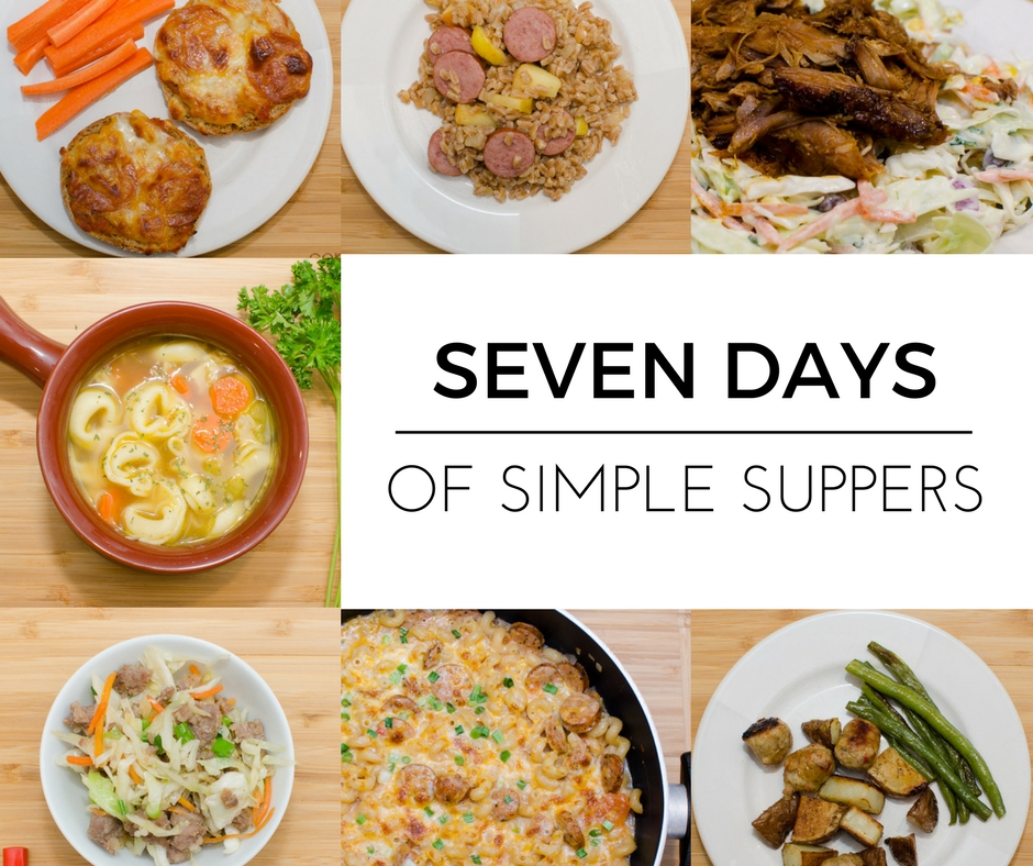 Seven Days of Simple Suppers