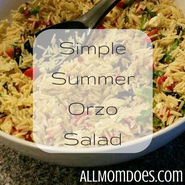 Simple Summer Orzo Salad