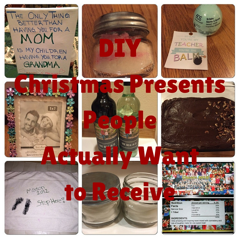 Top Ten Tuesday:  DIY Christmas Presents People Actually Want To Receive