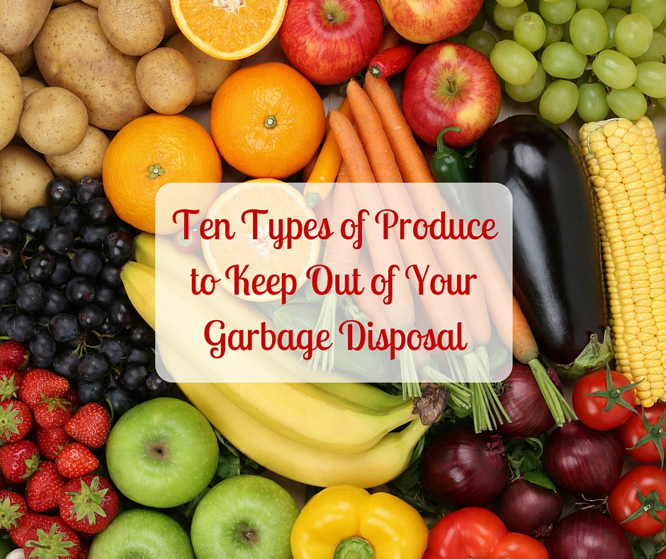 Ten Types of Produce to Keep Out of Your Garbage Disposal