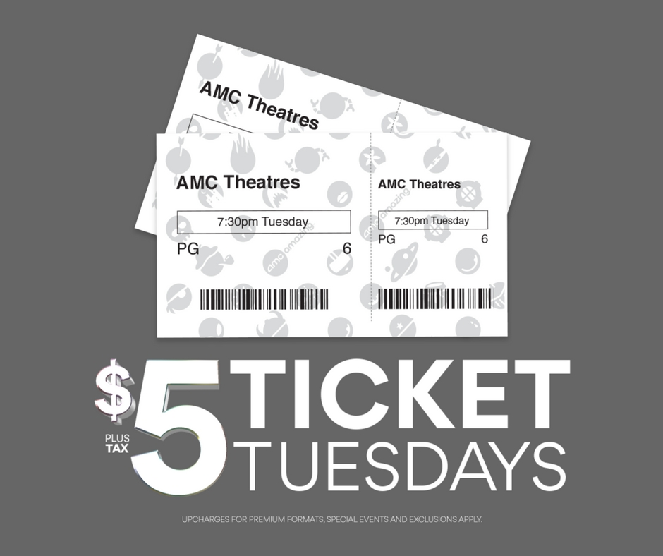 $5 Movies and Popcorn at AMC Theaters on Tuesdays in October