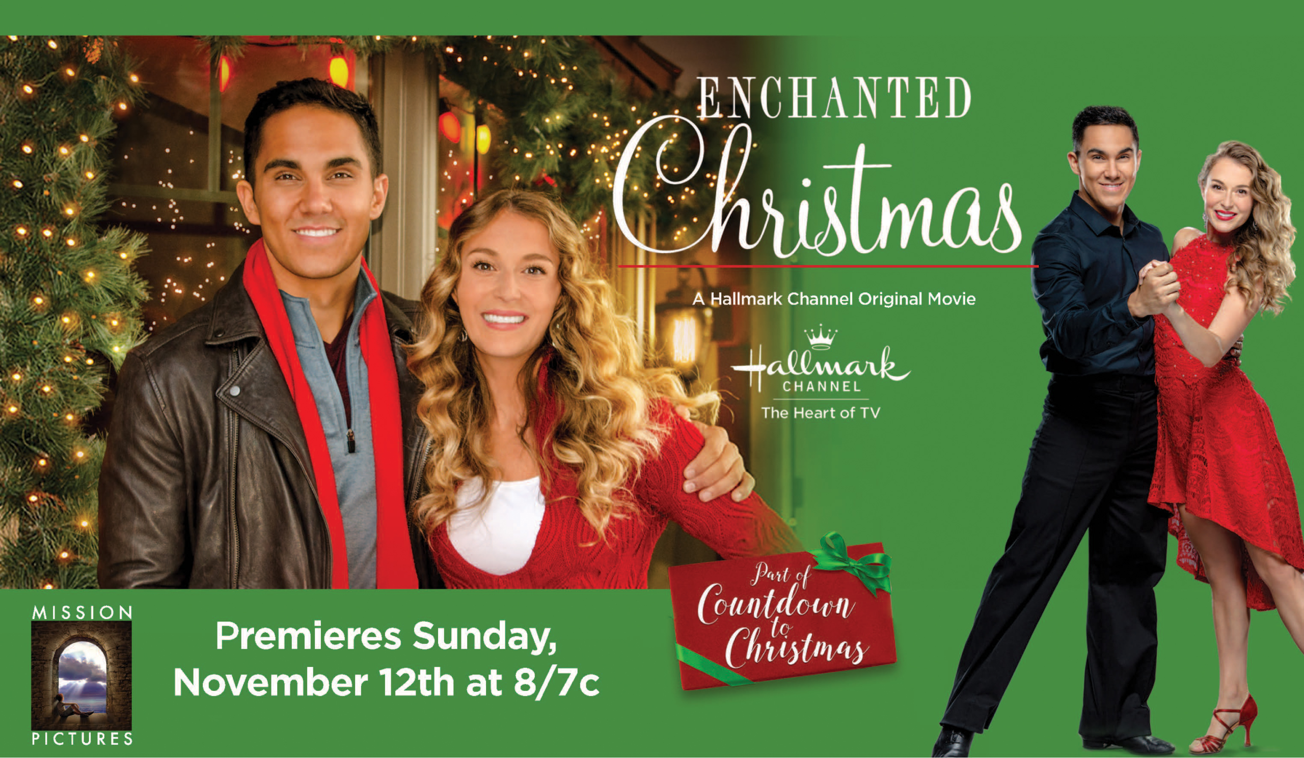 exclusive interview with carlos alexa penavega of hallmark channels enchanted christmas