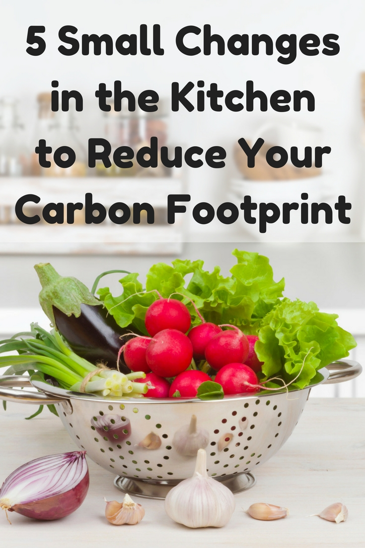Reduce your carbon footprint with these kitchen tips. #earthday #foodwaste