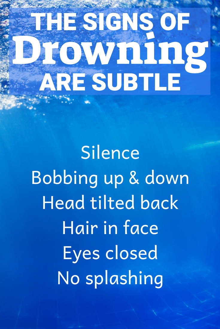 Signs of drowning - how to tell if a child is drowning. #swimming #summer #watersafety
