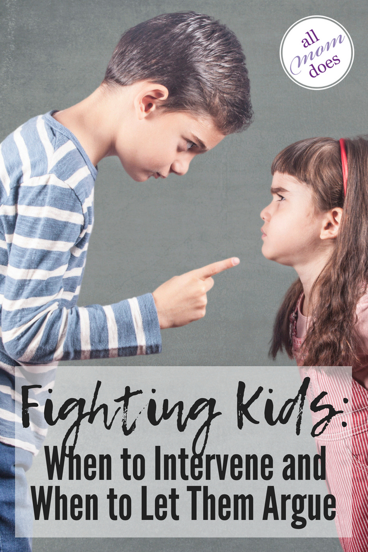 How to handle fighting kids. Should you intervene? #siblingrivalry