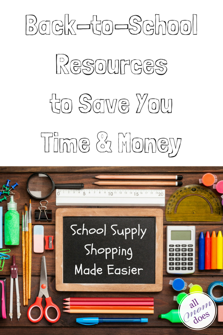 Back to school shopping resources. Save time and money. #backtoschool
