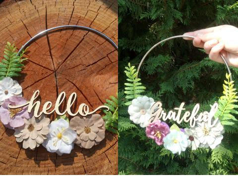 Flower Hoop Wreath Craft