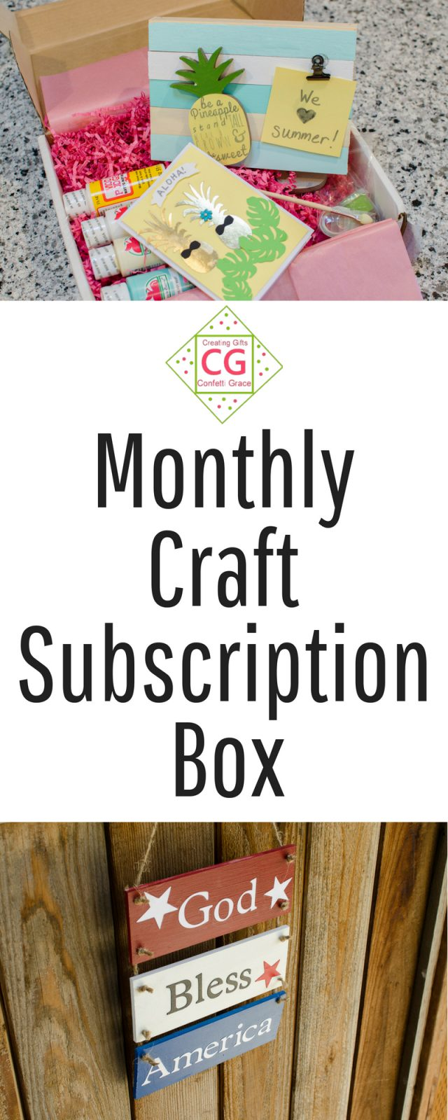 Confetti Grace Monthly Subscription Box #crafting