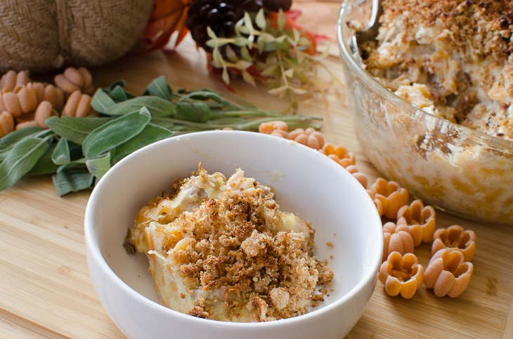 Baked Mac 'n' Cheese with Sausage and Sage