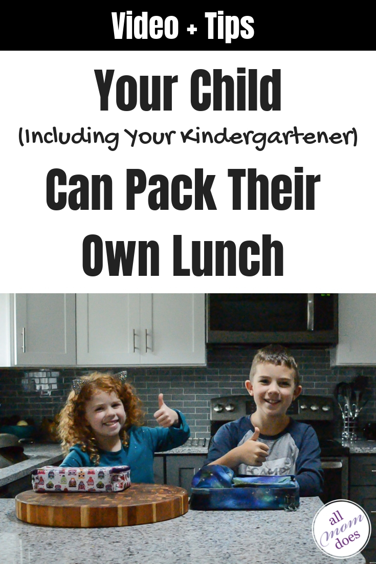 Even small children can pack their own school lunch. #schoollunch #parenting