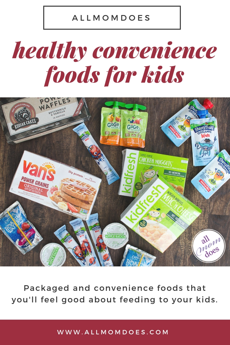Healthy processed foods for kids. Easy convenience kid-friendly food.
