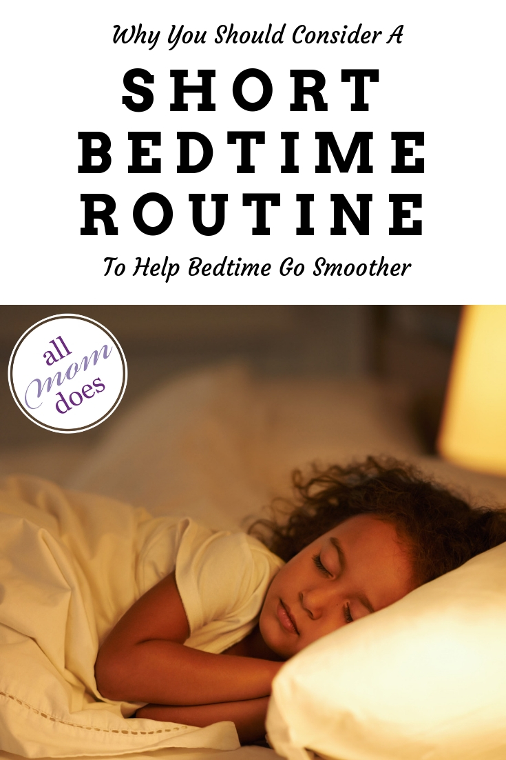 A short bedtime routine for kids can mean an easier bedtime. #parenting #motherhood #bedtimeroutine