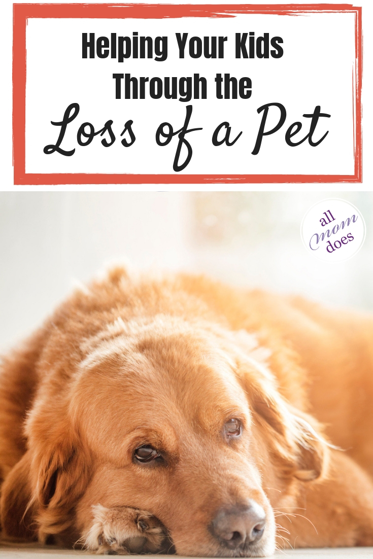 Tips how to help kids through the death of a pet.