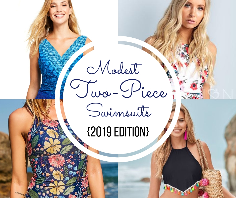 10 Modest Two-Piece Swimsuits {2019 Edition} | AllMomDoes