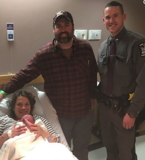 State Police Officer Helps Deliver Baby in Driveway