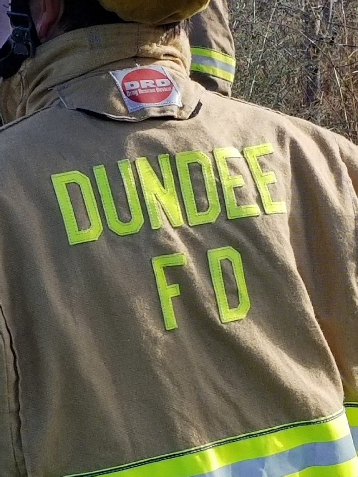 Dump Truck and Pickup Involved in Dundee Accident
