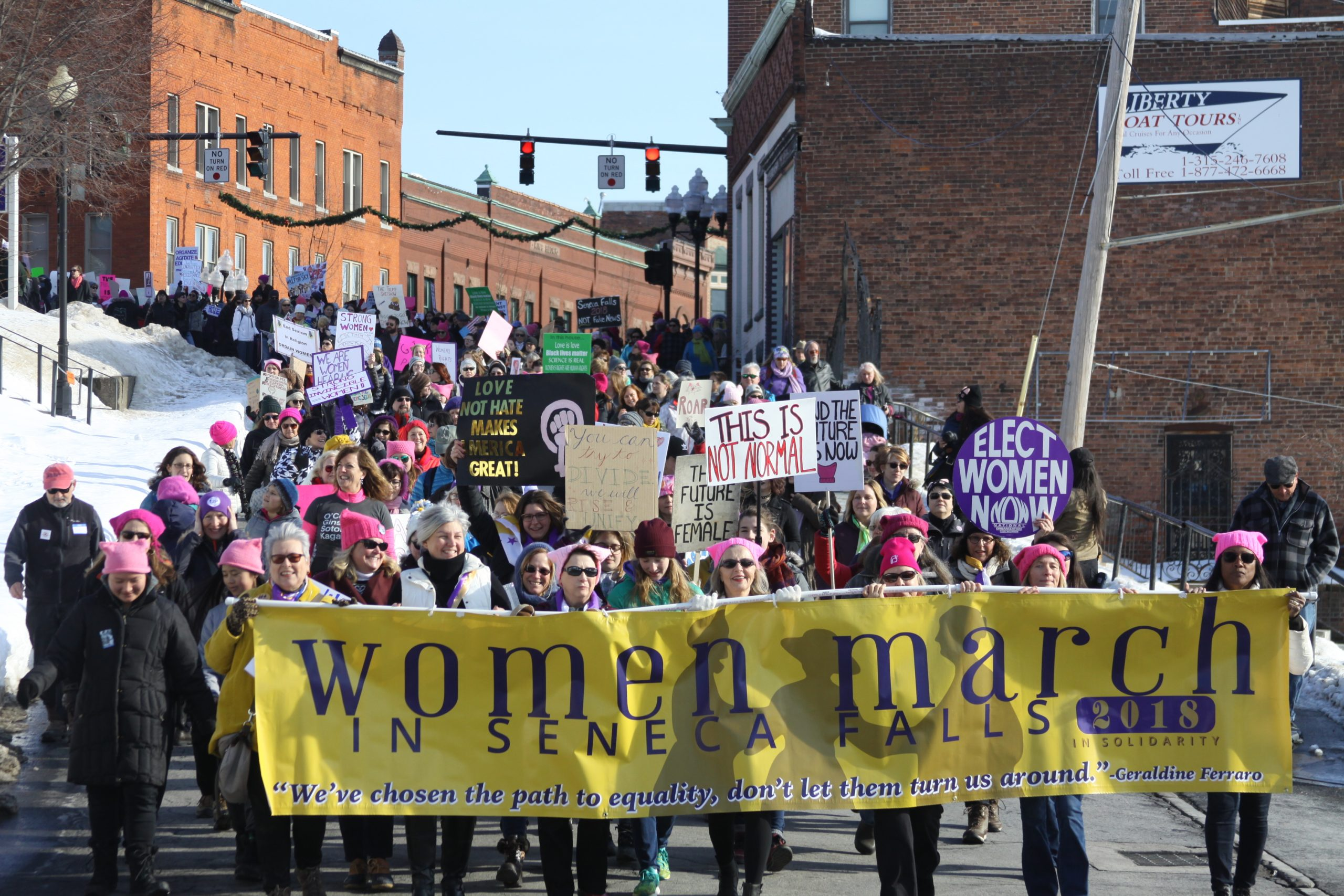 Thousands Take Part in Women's March (Photos and Video)