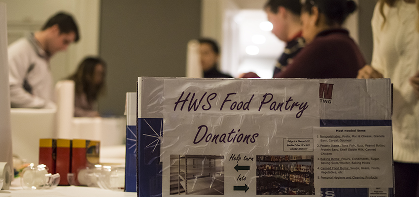 HWS Food Pantry Opens Today