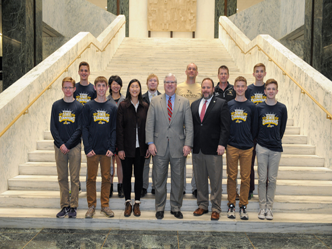 O'Mara, Palmesano Welcome Corning State Champions