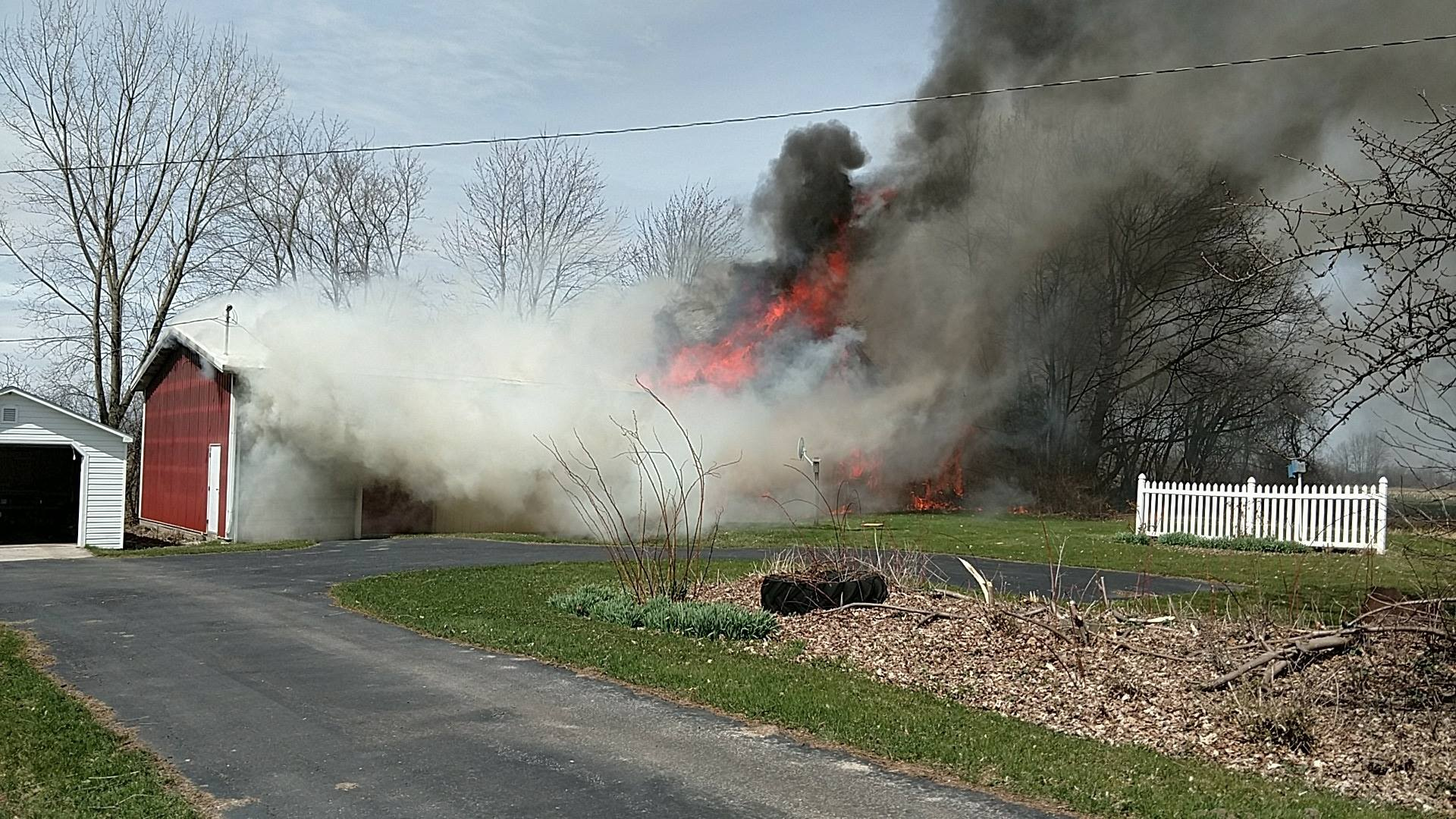 Two Barns Destroyed in Fleming Fire
