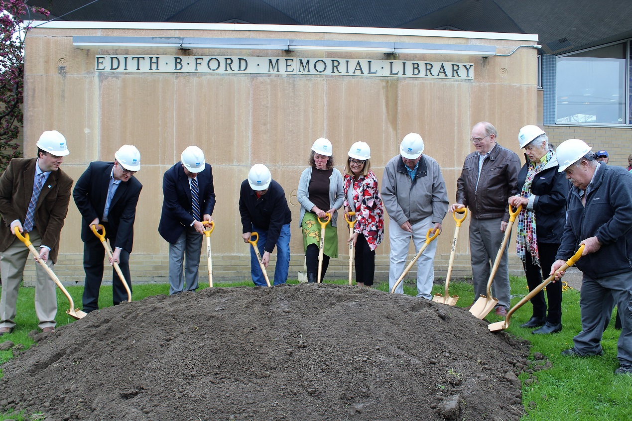 Helming Participates in Ovid Library Addition Groundbreaking