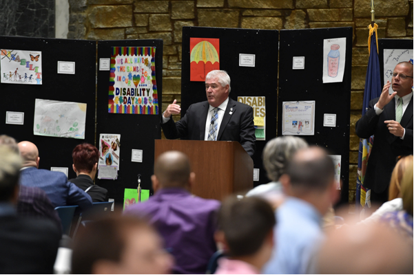 Kolb Speaks at Legislative Disabilities Awareness Day