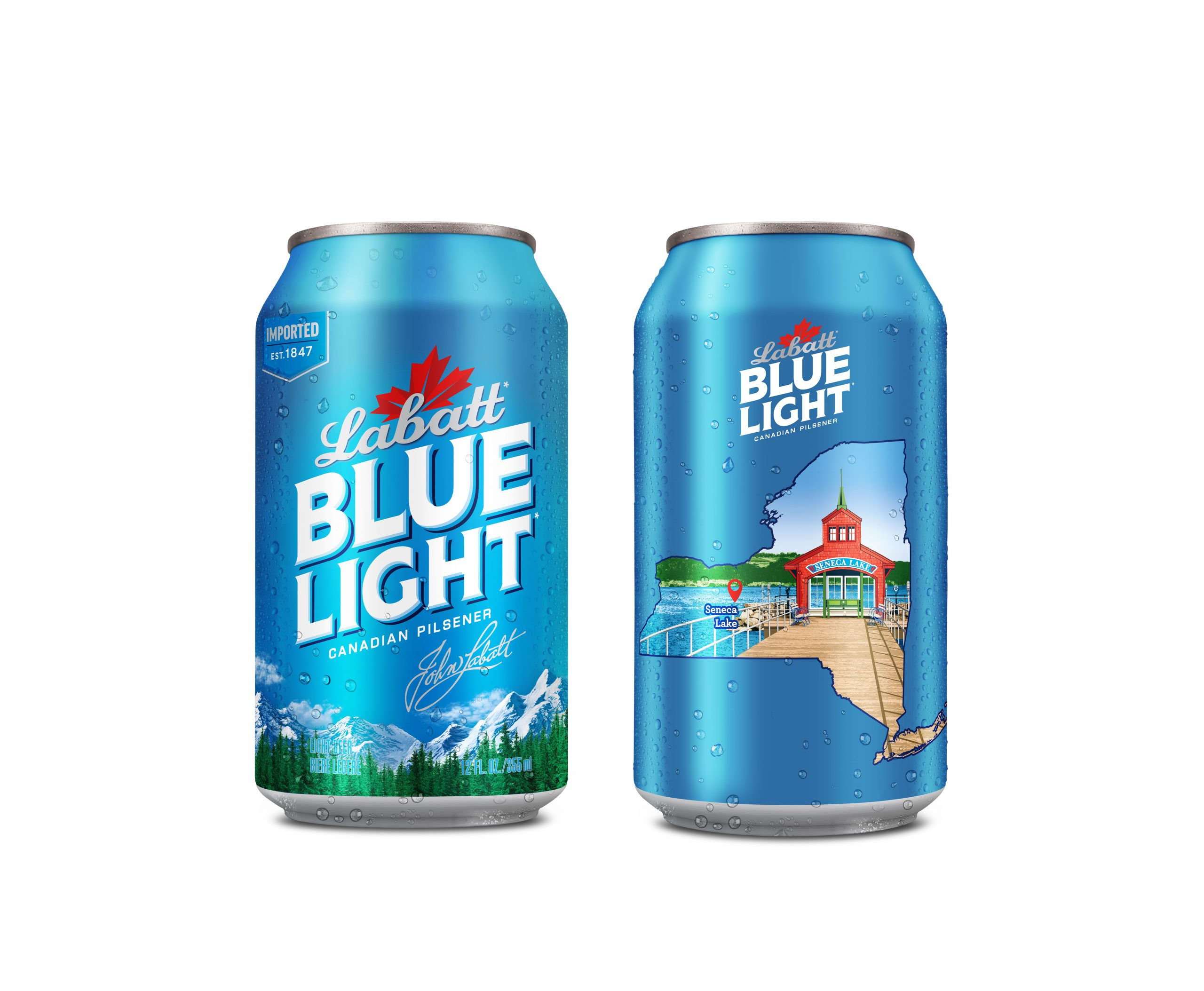 Seneca Lake Featured on Cans of Labatt Blue Light This Summer