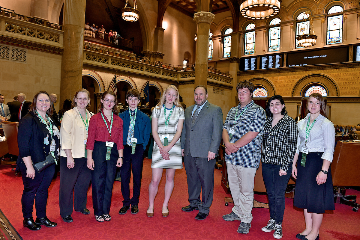 Palmesano Welcomes Local 4-H'ers to Albany