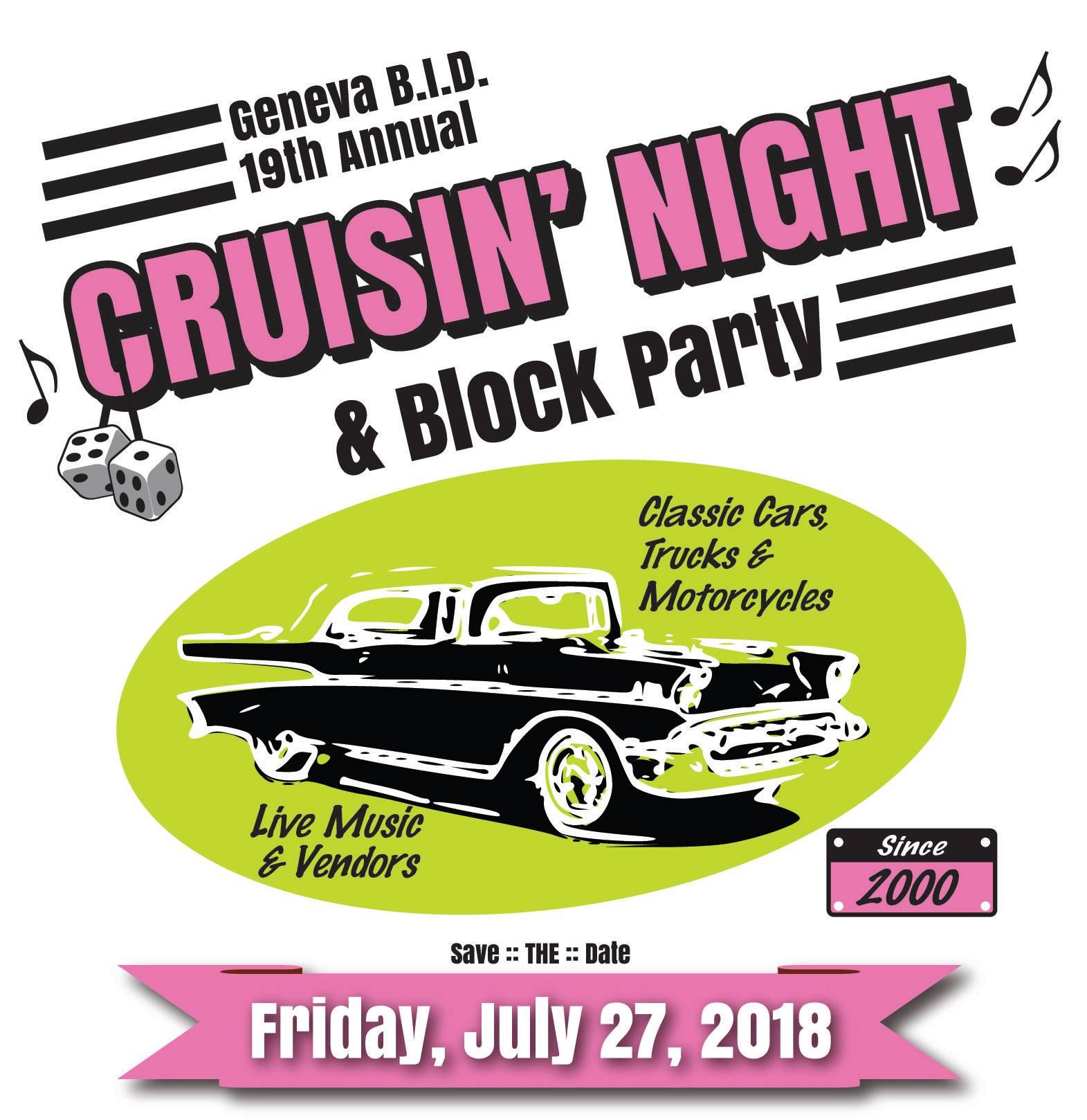 Cruisin' Night is Tonight in Downtown Geneva