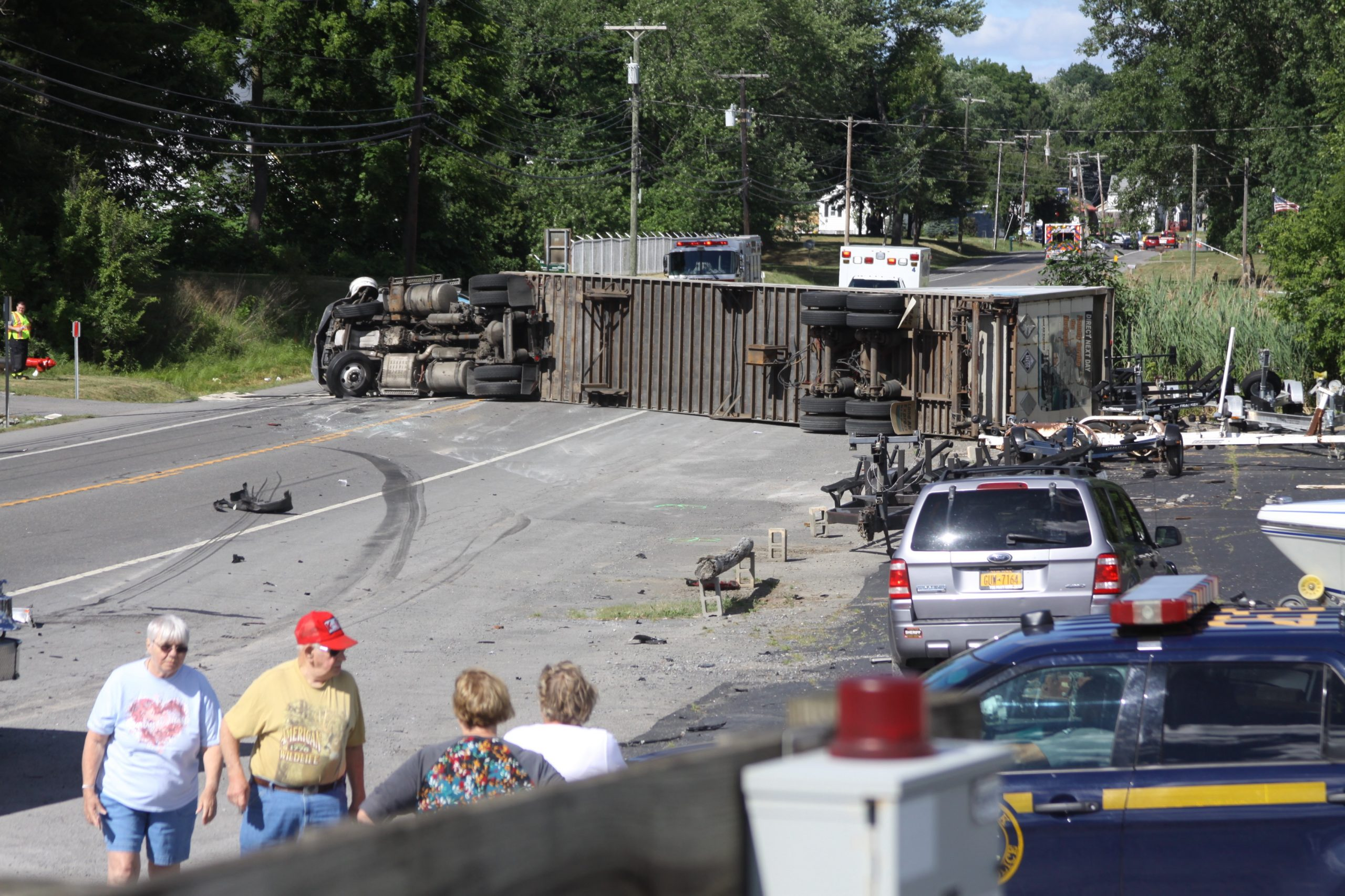 Truck-Two Car Accident Closes Rts. 5&20
