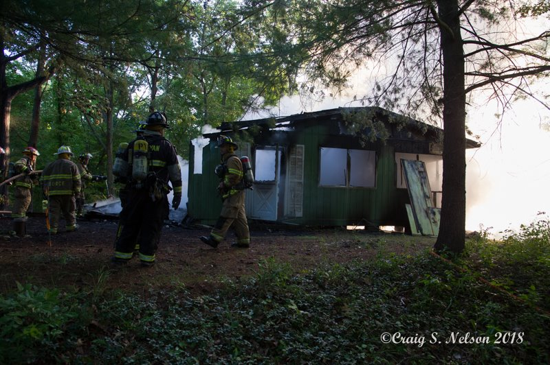 Fire Destroys Cottage in Yates County