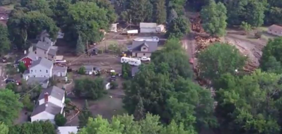 Drone Video Shows Flood Damage; State Sends More Help