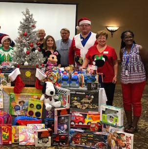 Waterloo Rotarians Celebrate Christmas in July