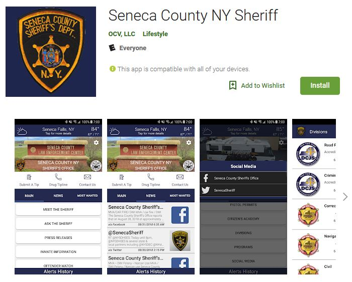 Seneca County Sheriff Announces New Public Safety Mobile App