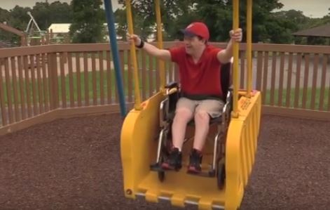 Liberty Swing Installed at Casey Park