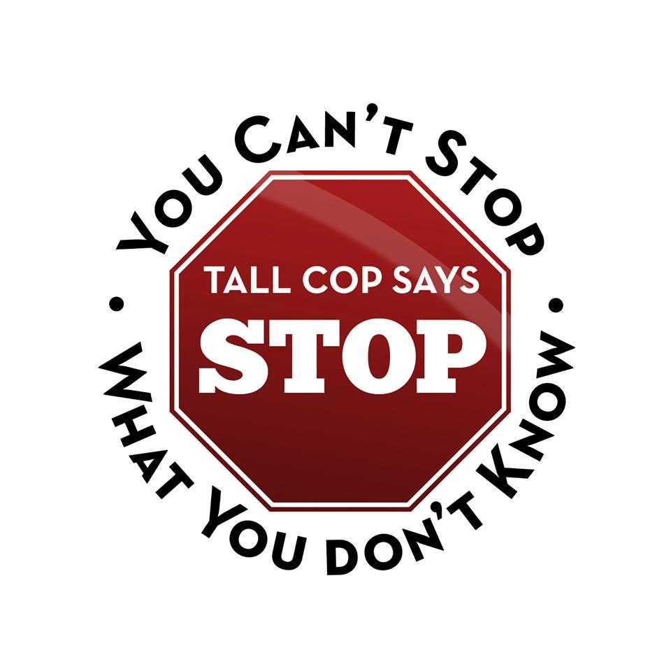 """Tall Cop Says Stop"" at Waterloo High Monday"