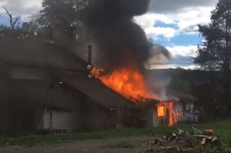 Dix Home Damaged in Fire