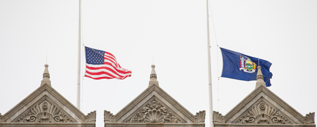 Flags Half-Staff to Honor Fallen Firefighters