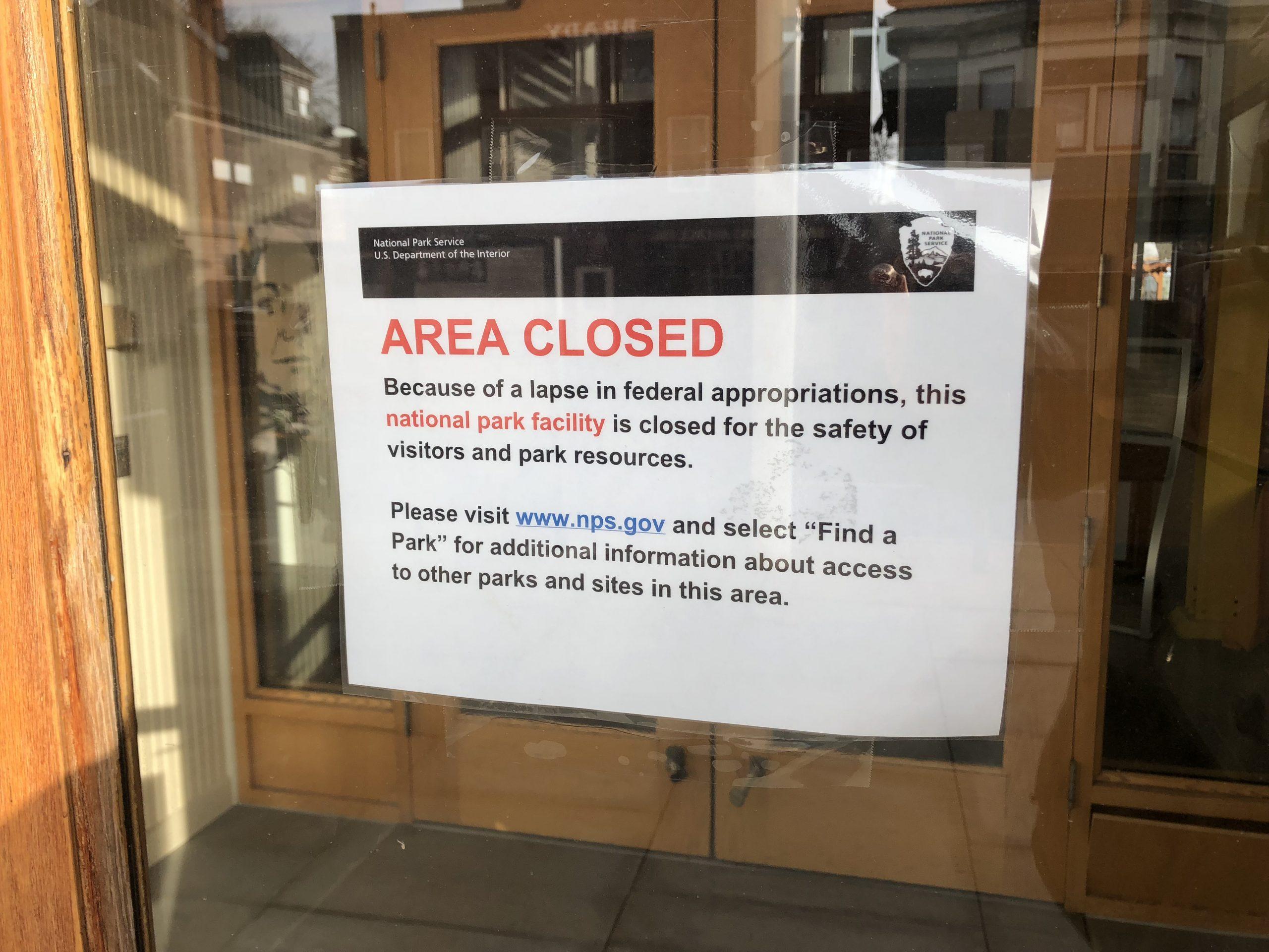 Government Shutdown Closes National Park in Seneca Falls