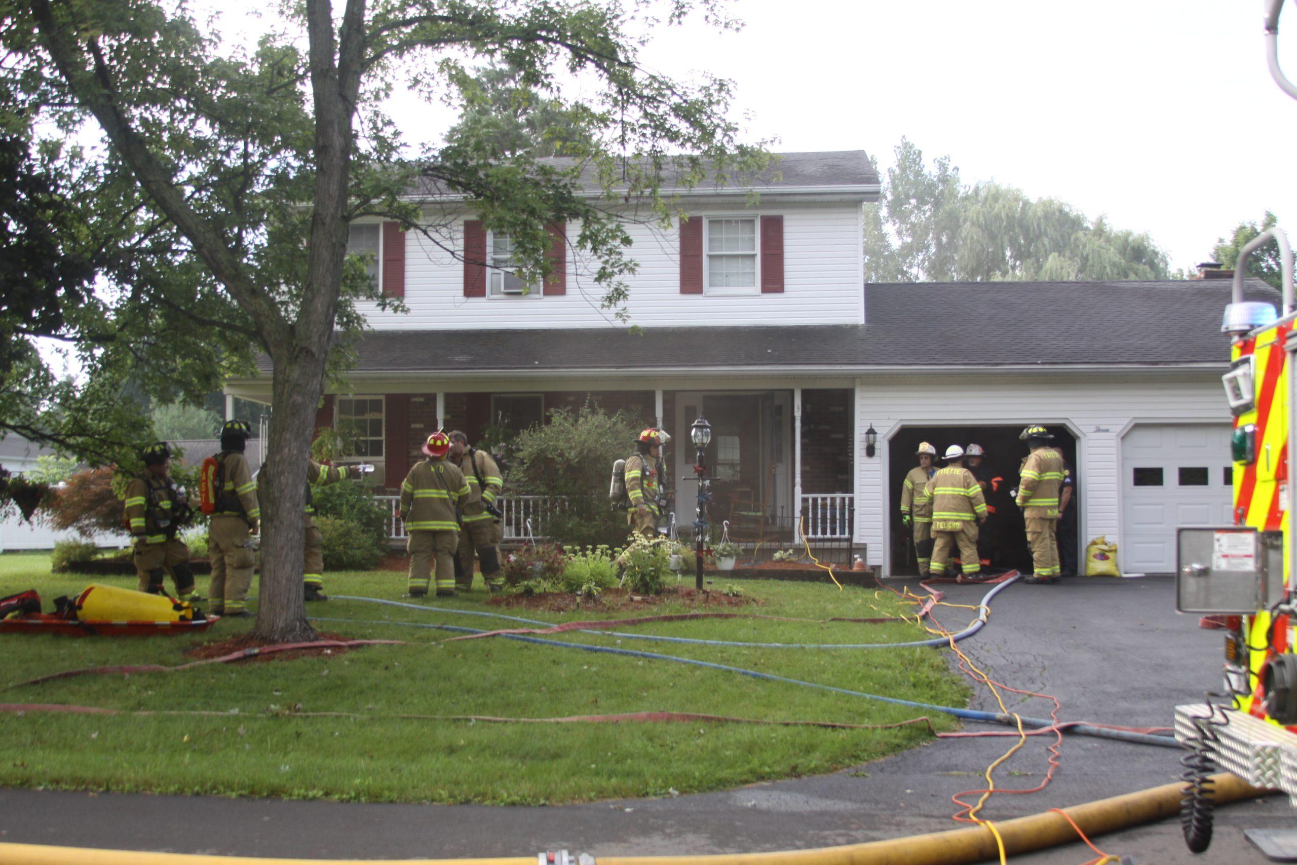 Firefighters battle basement fire in Seneca Falls on Saturday