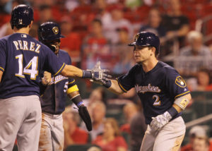Gennett waived by Brewers, claimed by Reds