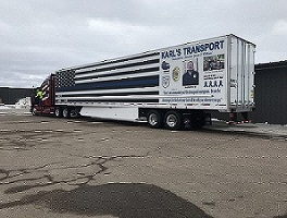 Big Rig Dedicated To Fallen Officer Unveiled