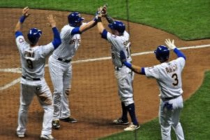 Brewers Defeat Cardinals 8-3; Best Record in N.L.
